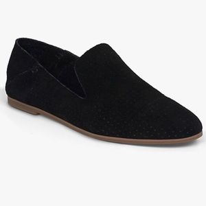 Lucky Brand Black Suede Caldyn Perforated Loafers